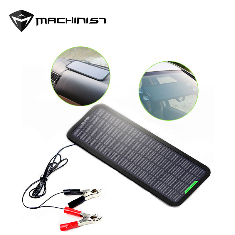Portable Solar Car Battery Charger 18V 5W Solar Power Car Battery Maintainer for Boat Car Vehicle Motorbike Battery. 1 5w solar powered auto car battery charger black