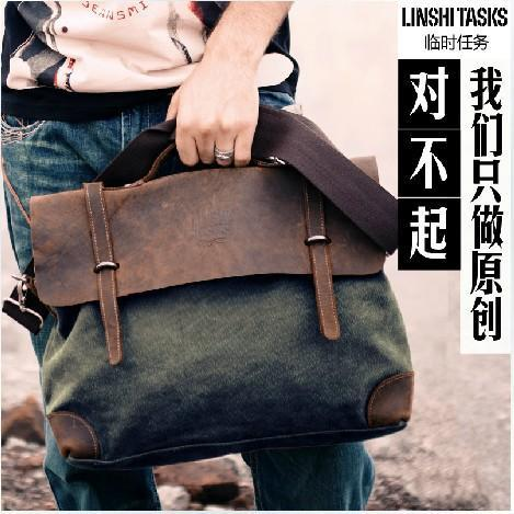 Brand Man's casual Vintage Canvas bags Men's Crossbody Bag Shoulder Messenger Bag Briefcase free shipping man casual laptop briefcase vintage canvas bags men s crossbody bag shoulder men messenger bag travel bag free shipping li 1300