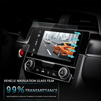 8 9 10 inç Temperli Cam Ekran Koruyucu Film için Dash 2 DIN araç DVD oynatıcı GPS radyo Stereo Multimedya Navigasyon Sistemi