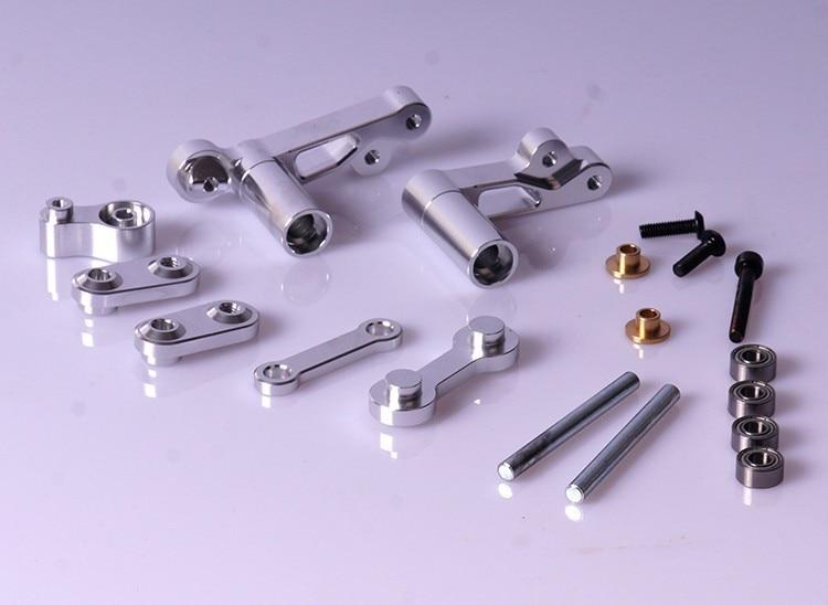 CNC Aluminum Steering wiper Arm Kit Fits all Rovan HPI, King motor Baja vehicles 85173 cnc metal steering wiper arm set for 1 5 hpi baja 5b 5t 5sc