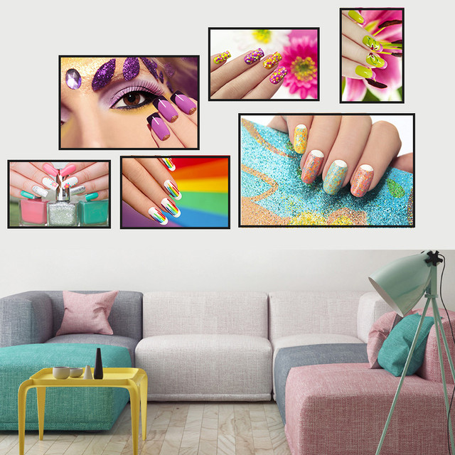 Modern Nail Salon Flower Home Decor Wall Art Nordic Canvas Painting