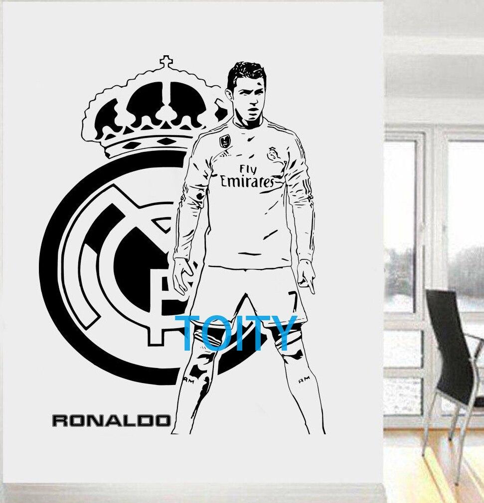 Cristiano ronaldo vinyl wall sticker fc footballer mural for Cristiano ronaldo wall mural