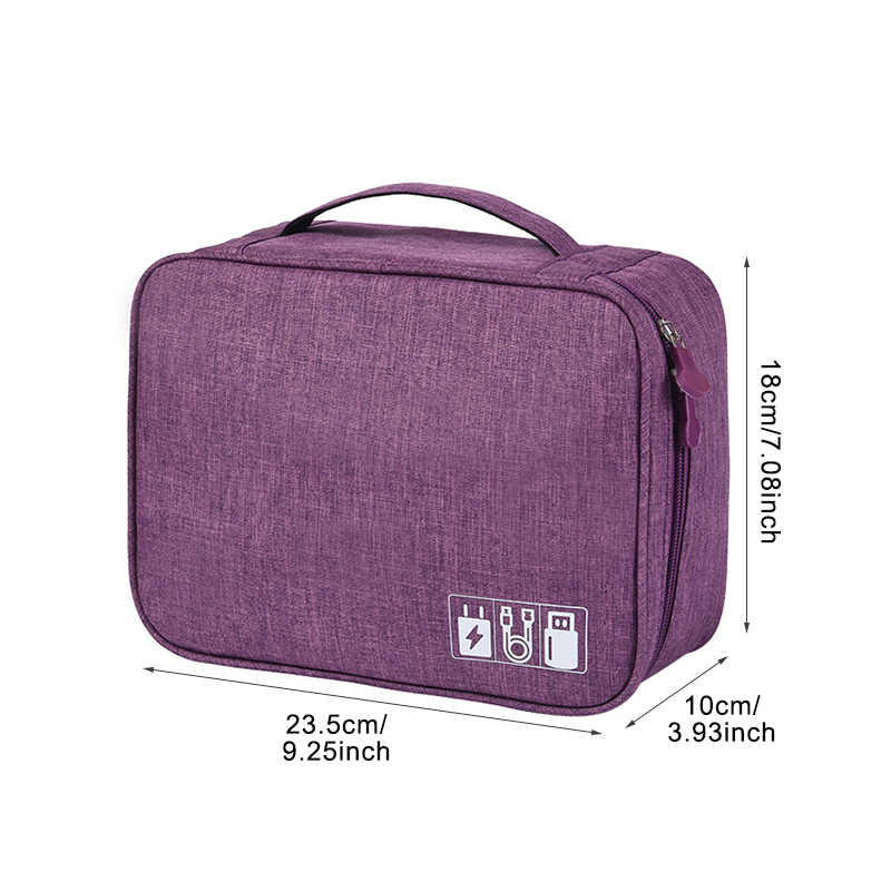 2caaeabaf88b ... Travel Cable Bag Portable Digital USB Gadget Organizer Charger Wires  Cosmetic Zipper Storage Pouch kit Case ...