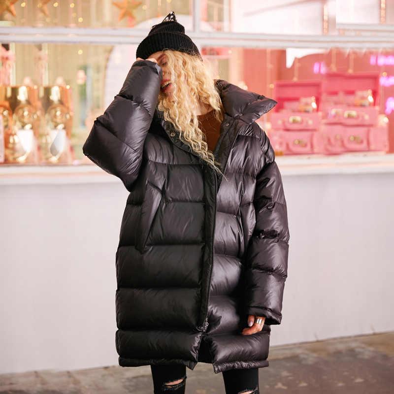0db279121fe1 Зимняя куртка женская теплая Толстая парка для женщин зимнее пальто 2018  брендовая Мода 90% белый