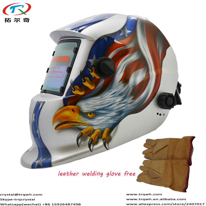 US $20 94 22% OFF|Pro Tig Welding Helmet Silver American Eagle Welder  Cap/Electric Welding Mask/Weld Accessory Parts Protection TRQ HD13  2200DE-in
