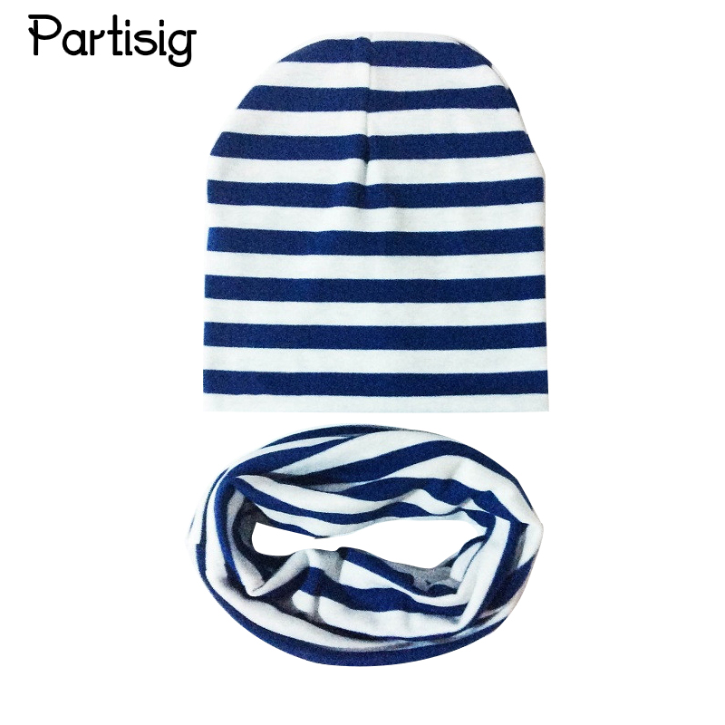 d205b6954ea Baby Hat Scarf Baby Cotton Knitted Striped Cap Scarf For Baby Boy And Girl  Children s Winter Hats Caps Headwear Accessories