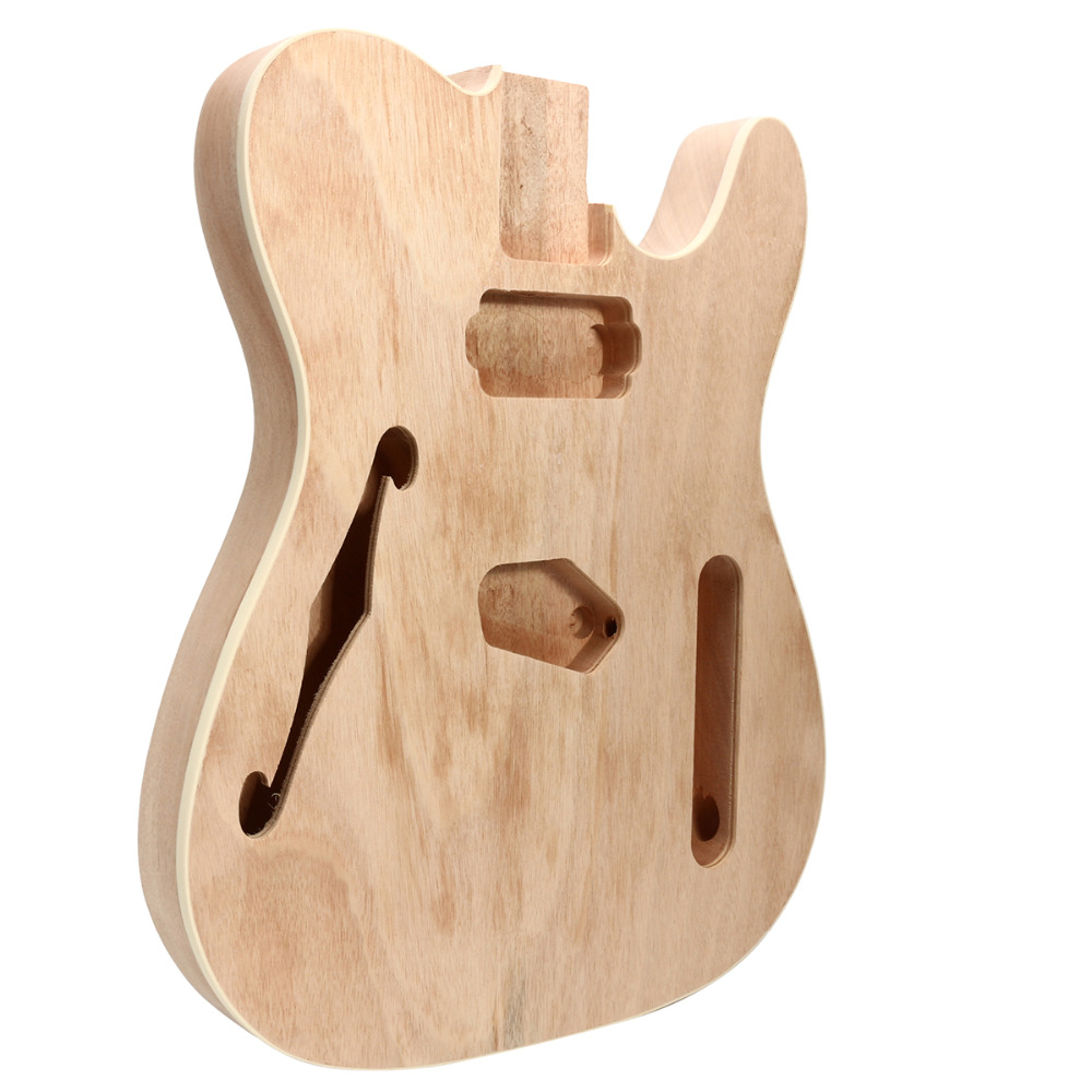 diy f hole electric guitar mahogany wood body telecaster thinline style body part single in. Black Bedroom Furniture Sets. Home Design Ideas