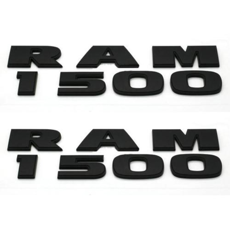 lowest price 2 Sets DIY Car Styling Auto ABS Decal Sticker Badge Emblem Universal For Car Dodge Ram 1500 Black Stripe Accessories