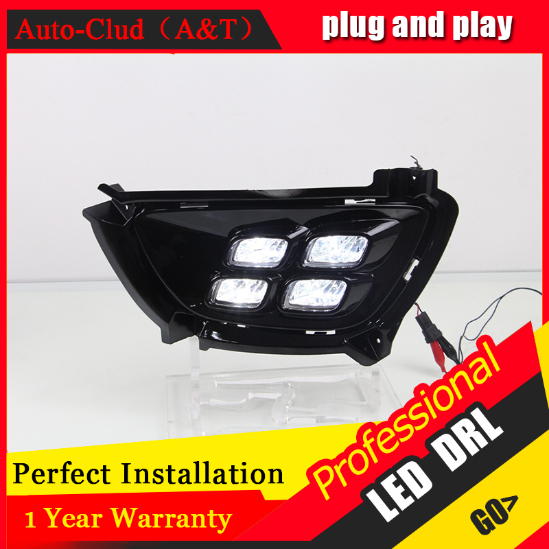 Auto Clud car styling For Kia Sportage R LED DRL For Sportage R led fog lamps daytime running light High brightness guide LED DR auto clud car styling for toyota highlander led drl for highlander high brightness guide led drl led fog lamps daytime running l