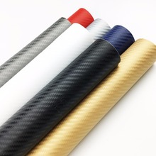 Motorcycle Automobile Carbon Fibre Sticker 3D carbon fiber vinyl film/  sticker Change Colour Film Decoration Subsidies