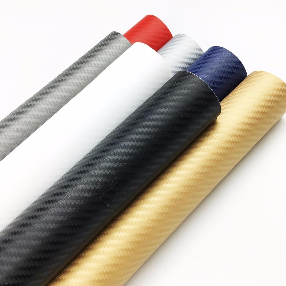 60 cm * 300 cm 3D Film De Voiture En Fiber De Carbone Vinyle Film Fibre de Carbone Wrap Fiche Film Roll Voiture Autocollants moto De Voiture Styling Accessoires