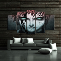 5 Panels HD Pritned Hot Cartoon Character Painting Modern Anime Wall Picture For Living Room SJM2089