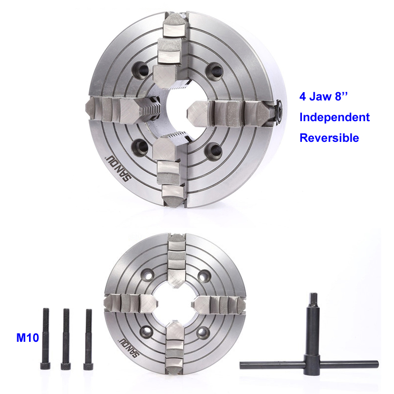 200mm 4 Jaw Independent Lathe Chuck 8