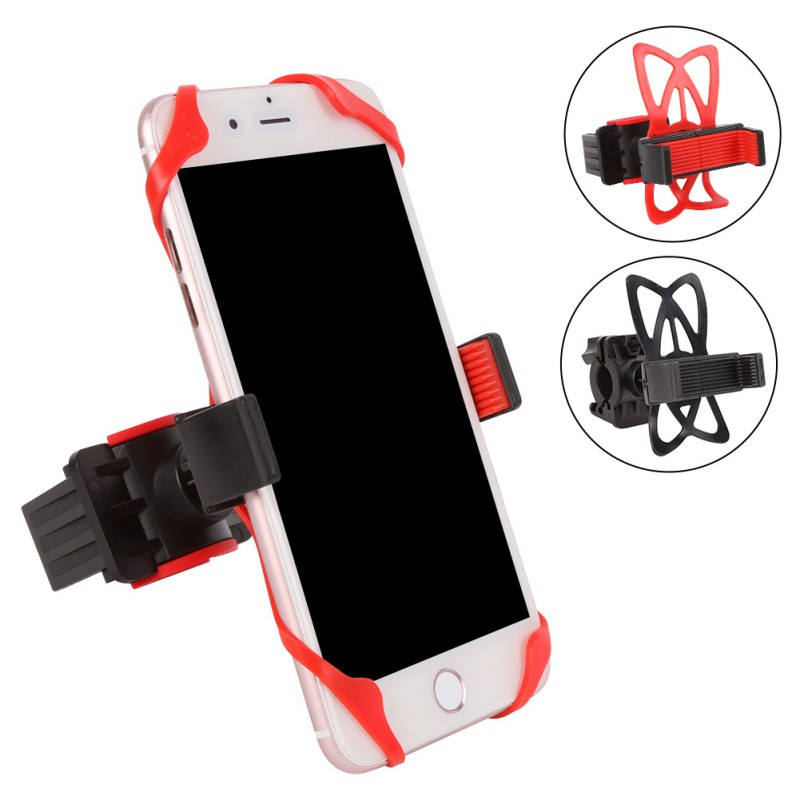 Bicycle Motorcycle Handlebar Mount Universal Cell Phone Handlebar With Silicone Support Bike Holder Mobile phone holder