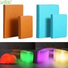 led book light usb Rechargeable PU cover portable folding Ni