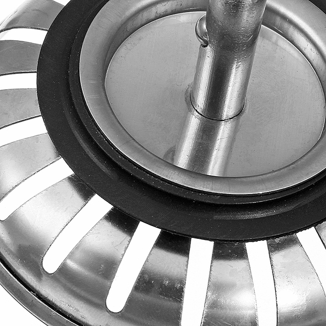 High Quality 1pc 304 Stainless Steel Kitchen Sink Strainer Stopper Waste Plug Sink Filter Bathroom Basin Sink Drain