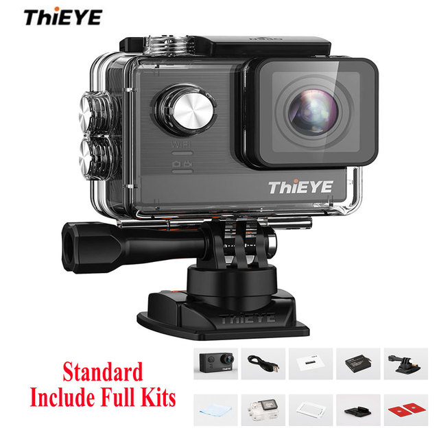 ThiEYE T5e WiFi 4K 30fps Action Camera 12MP Built-in 2 inch TFT LCD Screen Time-Lapse Videos Ambarella A12LS75 Chipset
