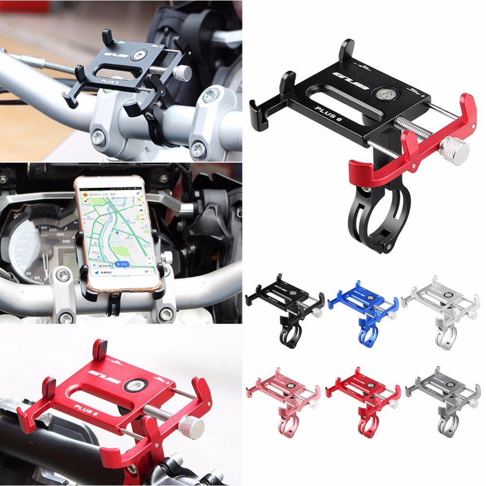 GUB Plus 6 Aluminium Alloy Mobile Phone Holder Stands Handlebar for Bicycle Motorcycle MTB Road Bike GPS Phone Holder
