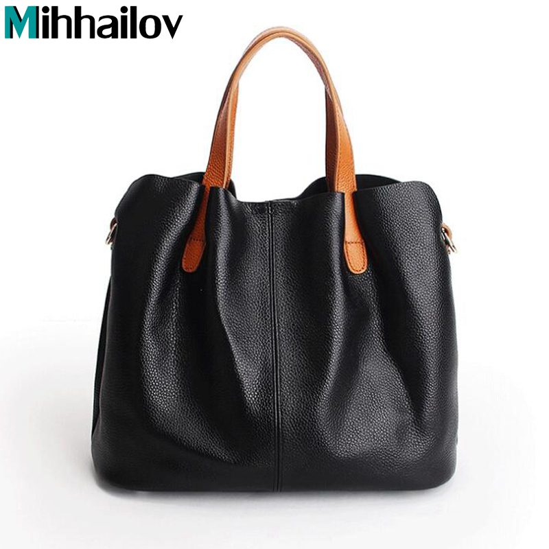 2018 Genuine Leather Women bag brands famous designer womens shoulder bags leather bolsa ...