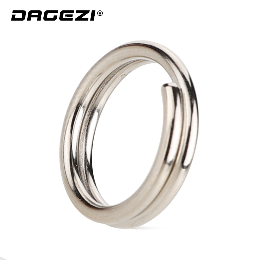 DAGEZI 25pcs/lot Stainless Steel Fishing Split Rings For Hard Bait #4-#15 Double Loop Split carp Fishing Accessories  pescaDAGEZI 25pcs/lot Stainless Steel Fishing Split Rings For Hard Bait #4-#15 Double Loop Split carp Fishing Accessories  pesca
