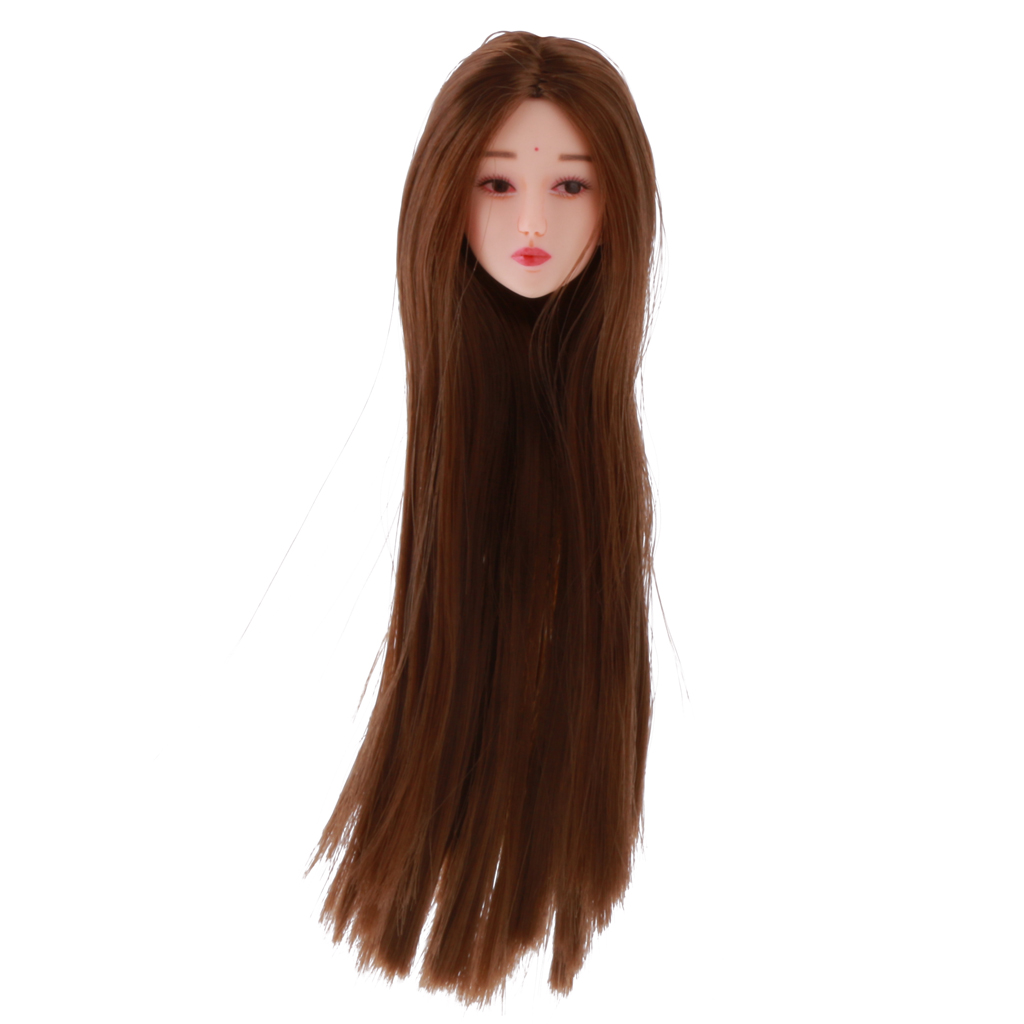 New Arrivals 1 6 Female Long Hair Head Sculpt Model for Women Phicen Hot Toys Action