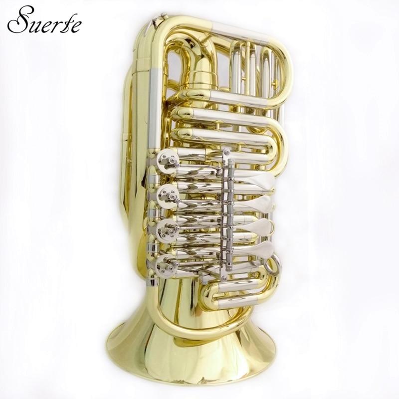 BBb key Travel Tuba 5 KG Bell 12.2 Height 32.3 Yellow Brass mini tuba Musical instruments professional