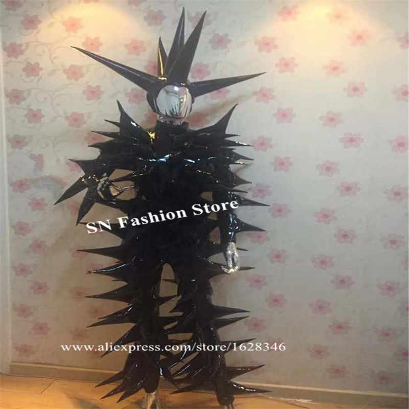 P31 вечерние черного цвета для костюмированной вечеринки позвоночника боди конус одежда диско шоу носит комбинезон костюмы для сцены DJ комбинация бар платье наряд для клуба