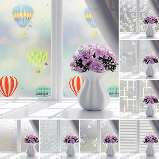 Waterproof Self-adhesive Film Window Decorative Film Frosted Glass Sliding Door Bathroom Window Stickers Translucent & Waterproof Self adhesive Film Window Decorative Film Frosted Glass ...
