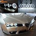 Для Alfa Romeo Brera <font><b>Spider</b></font> 2005-2011 отличные глаза ангела Ультра яркое освещение фар ccfl ангельские глазки комплект Halo Кольцо