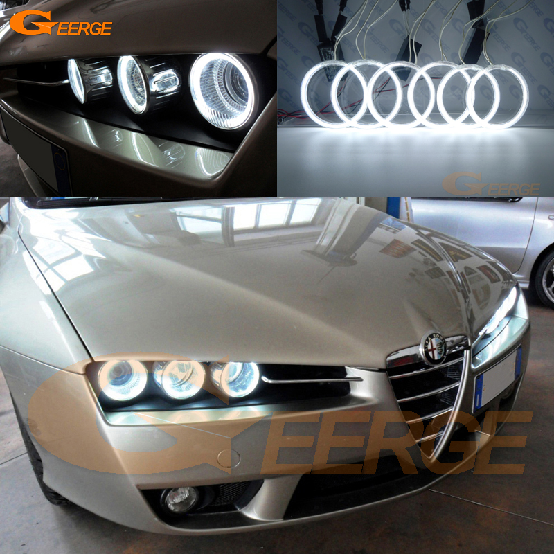 For Alfa Romeo Brera Spider 2005-2011 Excellent Angel Eyes Ultra bright headlight illumination ccfl angel eyes kit Halo Ring for alfa romeo 147 2000 2001 2002 2003 2004 halogen headlight excellent ultra bright illumination ccfl angel eyes kit halo ring