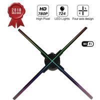 65 см WI FI 3D голографический проектор вентилятор Z3, четыре пазухе дизайн видеопроектор, светодиодный дисплей Реклама голографическая лампа, п