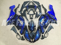 New Abs Fairings Kit Fit for kawasaki Ninja ZX6R 636 2007 2008 07 08 6R ZX 6R 600CC Bodywork set custom flame blue