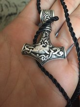 dropshipping 1pcs thor's hammer mjolnir pendant choker necklace viking jewelry scandinavian norse viking necklace Men gift