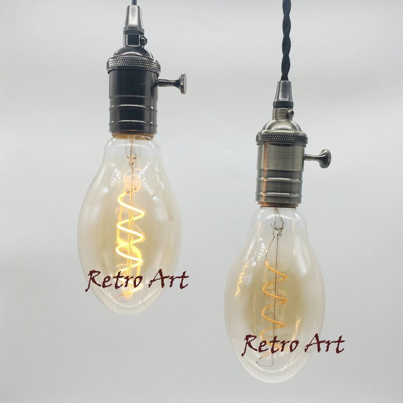 Dimmable Retro Vintage LED Filament Bulb BT75 E27 Industrial decorative soft Filament LED Bulb 4W t20 refrigerator led filament bulb 1w