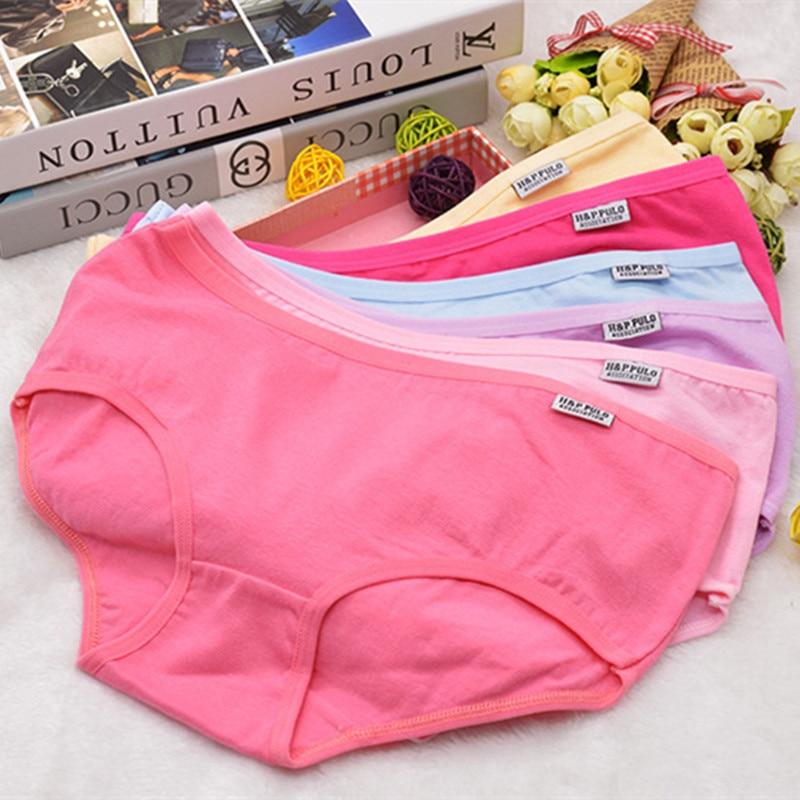 10 Fashion Cotton Panties Women's Children's Girls Underwear Breathable Lingerie Striped Kids Shorts Priefs Comfort Multi-color