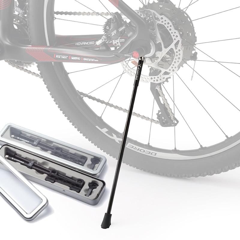 CORKI Carbon Bike Kickstand Sidestay en forma para 26 / 27.5 / 29 / 700c / 20 Soportes para bicicletas Kick Bike Stands MTB / bicicleta de carretera de liberación rápida rack