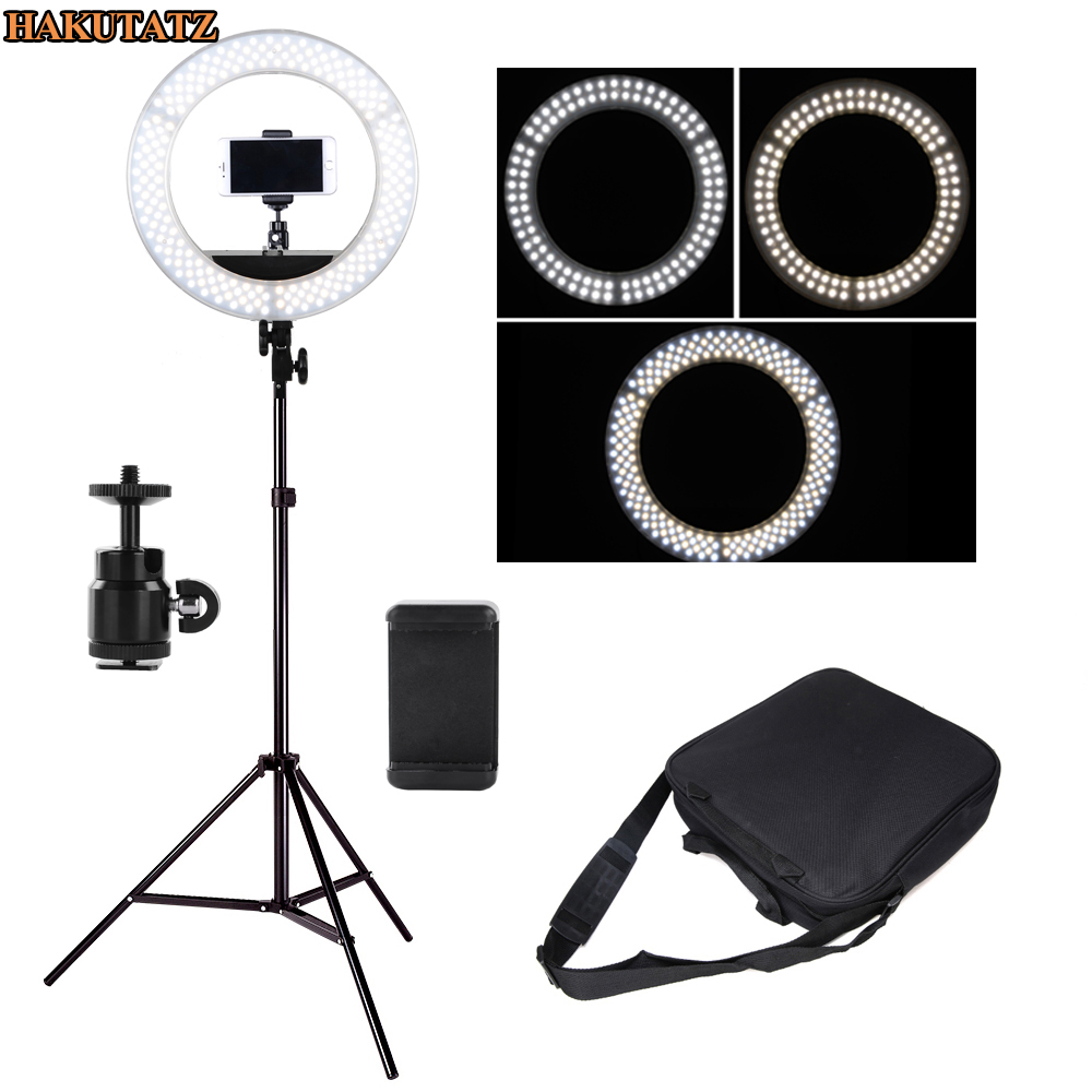 42W Wide band Voltage Digital Photographic Studio Ring Light 3200K 5500K With LED Camera Photo Dimmable