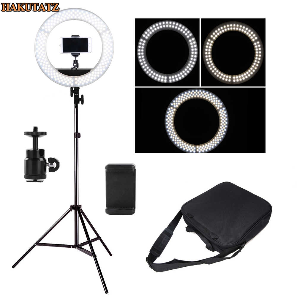 42W Wide-band Voltage Digital Photographic Studio Ring Light 3200K-5500K With LED Camera Photo Dimmable LED lighting With Tripod
