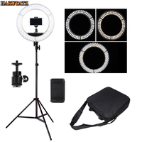 42W Wide band Voltage Digital Photographic Studio Ring Light 3200K 5500K With LED Camera Photo Dimmable LED lighting With Tripod