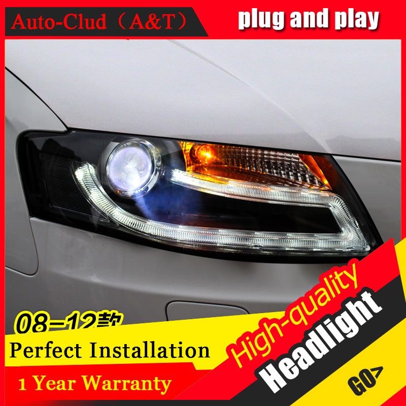 Auto Clud Car Styling For AUDI A4L headlights 2009 2012 For A4L head lamp led DRL front Bi Xenon Lens Double Beam HID KIT