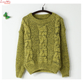 Thick Stripes Casual Pullovers Sweater Solid Warm Preppy Mohair Autumn Cashmere Sweater Women
