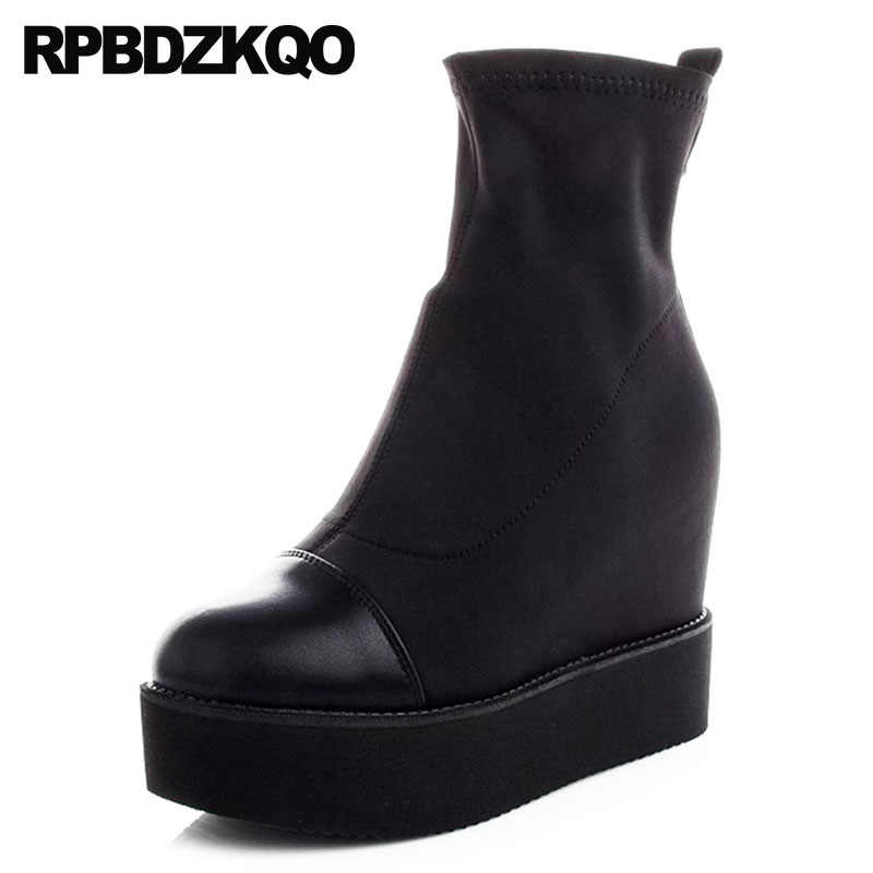 9977cf2a977 Detail Feedback Questions about wedge booties platform casual rivet ...