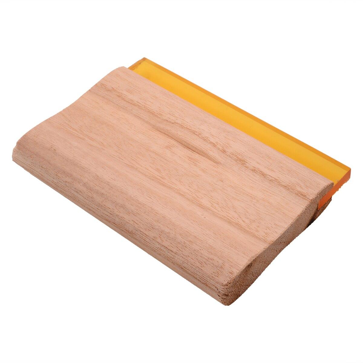 6 pulgadas de longitud Serigrafía Escurridor Mango de madera Seda - Piezas para maquinas de carpinteria - foto 4