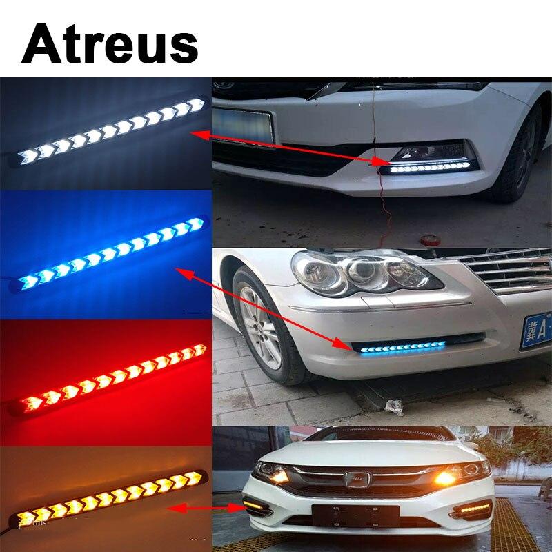 Atreus 2X Car with Yellow Steering Lights Turn Signals LED For BMW e46 e39 e36 Audi a4 b6 a3 a6 c5 Renault duster Lada granta atreus 1pair car led fender side turn signals