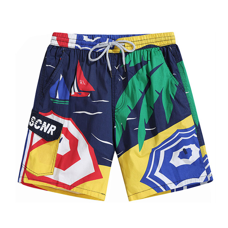 Cotton Printing Quick Dry Bermuda   Board     Shorts   Men Beach   Shorts   Sport Swimwear Men's Swimsuit Surf Gym Running Jogger   Shorts