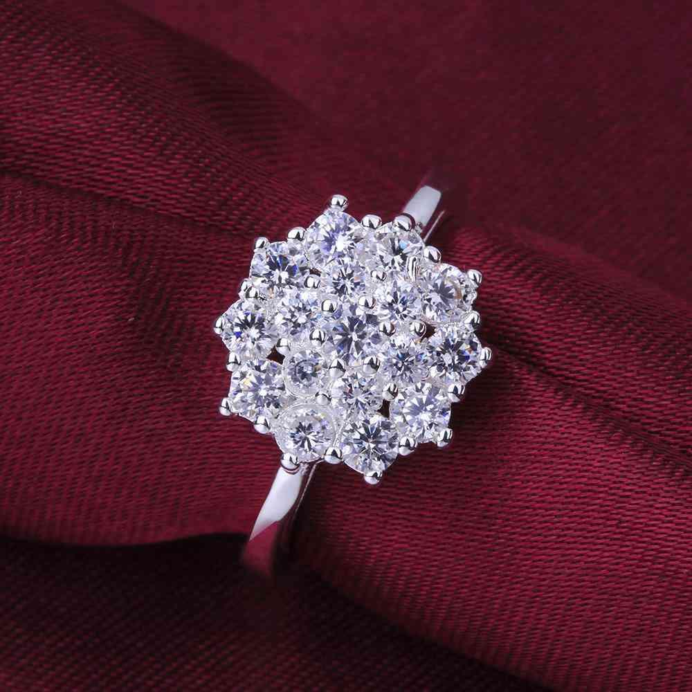 R549 silver Ring Engagement Lover finger ring lady Women Men Austria cz rhinestone Crystal Ellegant Ring Wholesale SMTR549