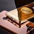 Для Huawei Ascend P8 P9 2 в 1 Случае Топ Металл Сплав Frame + гладкой Зеркало Задняя Крышка Крышка для Huawei P8 Lite P9 Lite Телефон случае