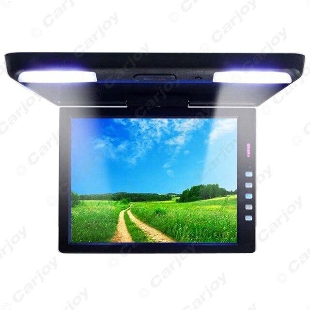 "13.3 ""Polegadas Bus TFT LCD Telhado Montado Monitor Do Carro Flip Down Monitor 2-Way Vídeo Entrada 12 V Preto, Grey, bege # A1289"