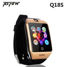 Q18S RsFow Novo Relógio Inteligente Com Câmera Cartão SIM Smartwatch Para Telefones Android Ios Do Bluetooth Relógio De Pulso Suporte a idiomas Múltiplos
