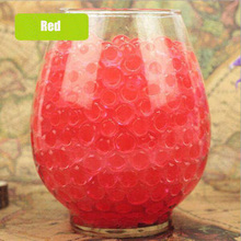 100pcs/lot Red Plant Crystal Soil Mud Grow Water Beads Hydrogel Magic Gel Jelly Balls Orbiz Growing In Vase Home Decor